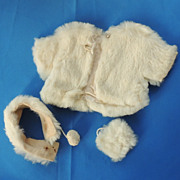 Rabbit Fur Jacket Muff and Headband for Terri Lee and Cissy