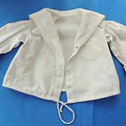 Very Nice Nautical Type Top for Bisque Doll