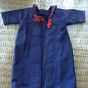 Navy Wool Coat for a Bisque Doll