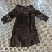 Chocolate Brown Velvet Dress