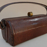 REDUCED Lady's Cobra Skin Barrel Art Deco Purse/Handbag