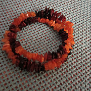 Fabulous Genuine Amber Bracelet Shades of Honey to Dark Amber
