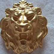 Hear Me Roar!!  Vintage Lion Pin