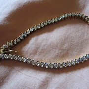 Vermeil Sterling Silver Cubic Z Tennis Bracelet