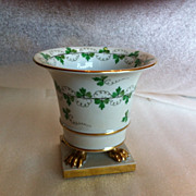 Herend vintage golden footed vase