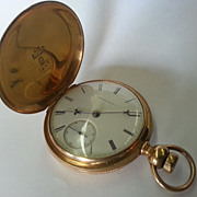FINE 18K Gold American Waltham Pocket Watch