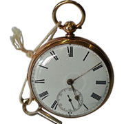 18k Gold Fusee Chain Drive Pocket Watch