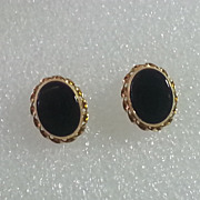 14k Gold Onyx Stud Earrings