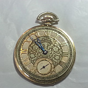 14k Yellow Gold Illinois Thin Model, 12 Size Pocket Watch