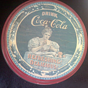 SALE Vintage Coca-Cola Tin with Ad Refreshing! Delicious!