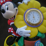 SALE Walt Disney Minnie Mouse Clock Collectible