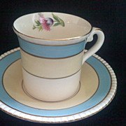 SALE Lovely FONDEVILLE ENGLAND  Demitasse Cup and Saucer
