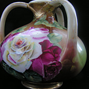 SALE Rare and Gorgeous ROYAL KINRAN NIPPON 3 Handle Vase