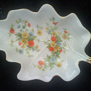SALE Lovely LEFTON China 8312 Leaf Shaped Dish