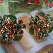 Vintage Weiss NY Rhinestone Earrings