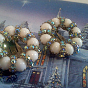 Dazzling Vintage Weiss Iridescent Earrings