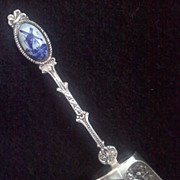 Vintage DELFT Holland Repousse Caddy/Sugar Spoon