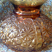 Amber Hurricane Lamp Shade DAISY AND BUTTON