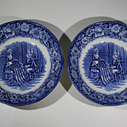 Liberty Blue Ironstone Berry Bowls Betsy Ross