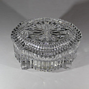 "SOLD Waterford Crystal Trinket Music Box Plays ""Memory"" from ""Cats"""