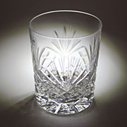 24% Lead Cut Crystal Whisky Tumbler Glass