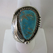 F. SANDOVAL Sterling & Turquoise Ring