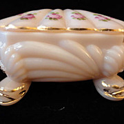 Cambridge Crown Tuscan Charleton Roses Cigarette Trinket Box
