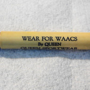 WWII WAAC Advertising Queen Sportwear for WAACS plastic bullet pencil