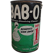 BAB-O Cleanser Tin