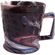 Imperial Glass Purple Slag Beverage Mug (Mold #210) Vintage 1960-73