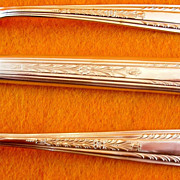 """Hollywood"" (IS) Art Deco Silver Plate Flatware Set of 34 Vintage 1930's"