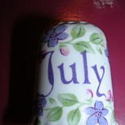 Fenton Thimble Bone China &quot;July&quot;