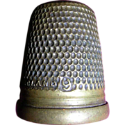 Thimble Vintage English Brass