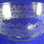 Tiffin/Franciscan #14196 Vintage Needle Etched Berry Bowl