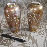 Pair of Oriental Vases With Satsuma Decorations