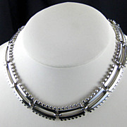 SALE Monet Mod Vintage Silver Tone Link Necklace