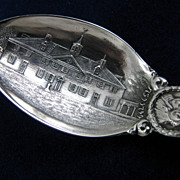 Historic Mt. Vernon/George Washington's Home and Tomb Souvenir Sterling Spoon