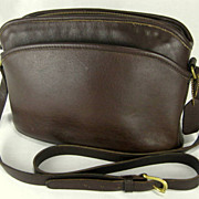 SALE Vintage Anderson Coach Crossbody Dark Brown Shoulder Bag Purse