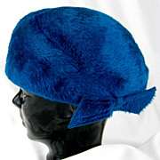 SALE Christine Vintage Blue Christine Faux Fur Cold Weather Winter Hat Italy