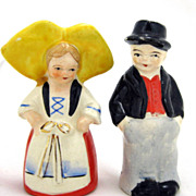 SALE Dutch Boy and Girl Vintage S&P Salt and Pepper Shakers