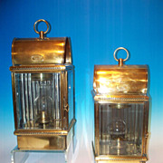 Pair of large brass ships lanterns