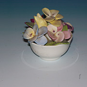 Small Coalport Porcelain Fixed Floral Arrangement