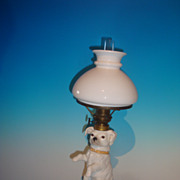 Begging Dog Pottery Lamp