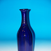 Very Tall Cobalt Blue Decanter