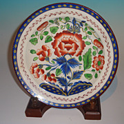 Gaudy Dutch Carnation Pattern Plate