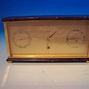 A Very Fine Hermes Desk Clock - Barometer