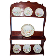 7 Pc. Limoges Dessert Set c/ Shells