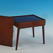 Very Fine Mahogany Metamorphic Miniature Cased Table