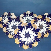Six Meissen snowflake shaped Plates,6 1/2 in.
