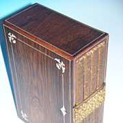 REDUCED Rosewood  Box with Journals & Bone Inlay